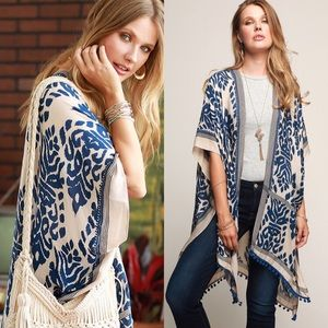 Sweaters - kimono Coverup Armholes Pom Pom Boho Chic